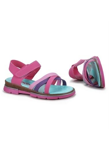 Kiko Kids  Şb 2722-27 Orto Pedik Kız Çocuk Sandalet Terlik Fuşya